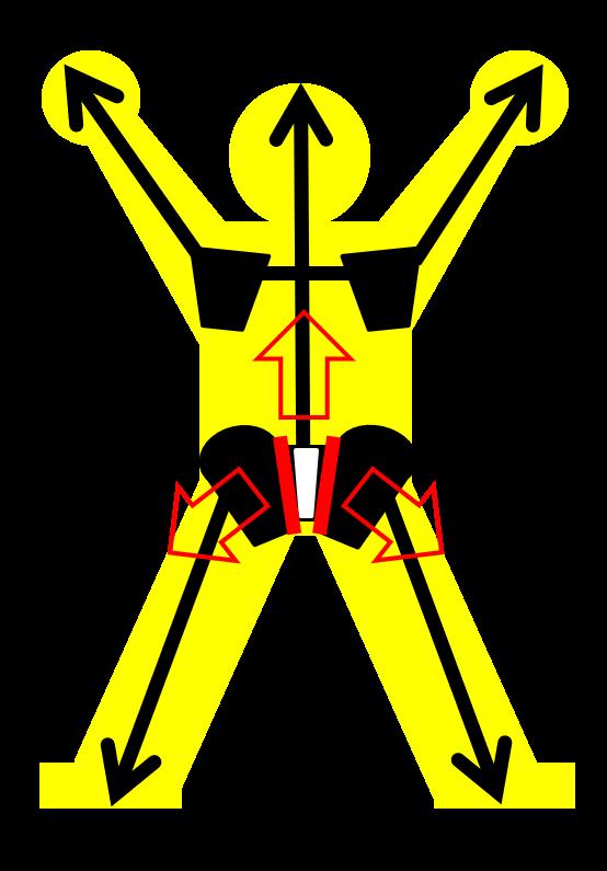 道具を使ったトレーニングで、表から見えない動きを見る。